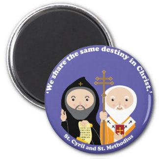 Sts. Cyril and Methodius 2 Inch Round Magnet