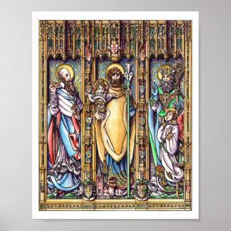 Sts. Joseph, Francis de Sales & Patrick Poster