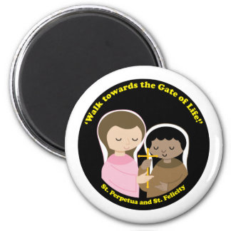 Sts. Perpetua and Felicity 2 Inch Round Magnet