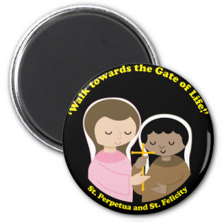 Sts. Perpetua and Felicity Refrigerator Magnets
