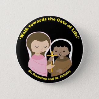 Sts. Perpetua and Felicity Pinback Button