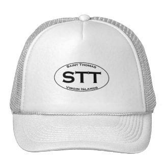 STT - Óvalo euro del estilo de las Islas Vírgenes Gorro De Camionero