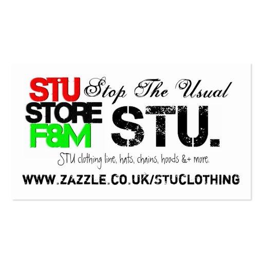 STU. Almacene promover tarjetas de visita