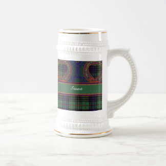 Stuart clan Plaid Scottish kilt tartan Beer Stein