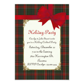 Stuart Clan Tartan Plaid Custom Christmas Party Card
