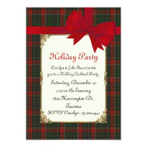 Stuart Clan Tartan Plaid Custom Christmas Party Invitation