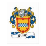 Stuart Family Crest Postcard
