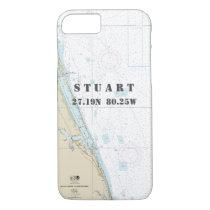 Stuart FL Latitude Longitude Nautical Chart iPhone 7 Case