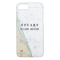 Stuart FL Latitude Longitude Nautical Chart iPhone 8/7 Case