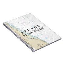 Stuart FL Latitude Longitude Nautical Chart Notebook