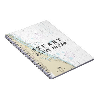 Stuart FL Latitude Longitude Nautical Chart Notebook