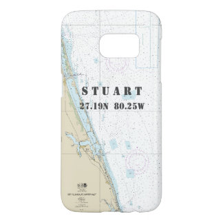 Stuart FL Latitude Longitude Nautical Chart Samsung Galaxy S7 Case