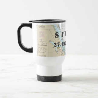 Stuart FL Latitude Longitude Nautical Chart Travel Mug