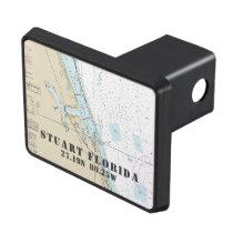 Stuart Florida Latitude Longitude Nautical Tow Hitch Cover