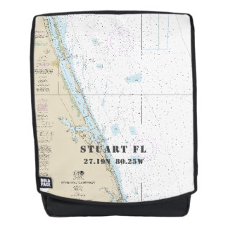 Stuart Florida Nautical Latitude Longitude Backpack