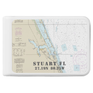 Stuart Nautical Chart Latitude Longitude Power Bank