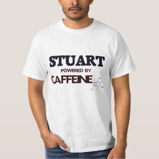 Stuart powered by caffeine tshirt