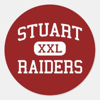 Stuart - Raiders - Middle - Jacksonville Florida Round Sticker
