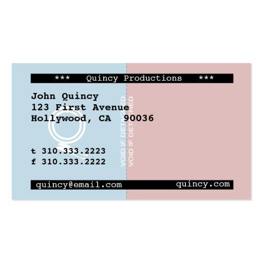 Stub Business Card Template