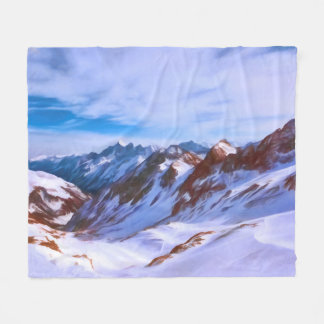 Stubai Glacier in Austria Fleece Blanket