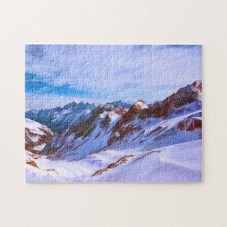 Stubai Glacier in Austria Jigsaw Puzzle