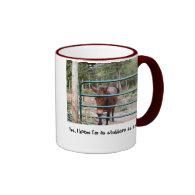 Stubborn as a mule ringer mug