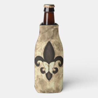 Stubborn Barware Sepia Fleur De Lis with Butterfly Bottle Cooler