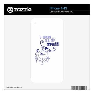 Stubborn Bull iPhone 4S Skin