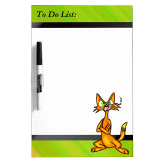 Stubborn Cat To Do List Dry Erase Board