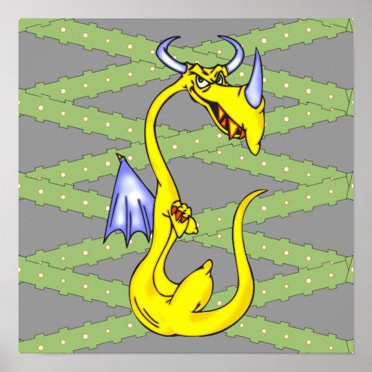 Stubborn Dragon Poster