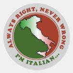 Stubborn Italian Funny Stickers