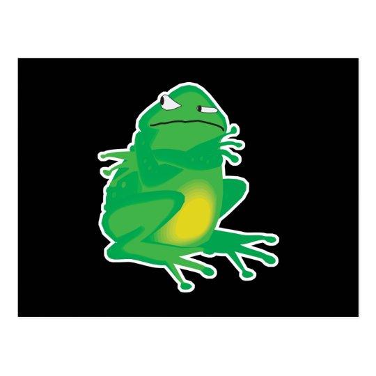 stubborn little frog postcard