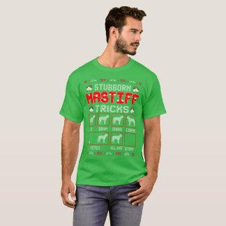 Stubborn Mastiff Dog Tricks Christmas Ugly Sweater