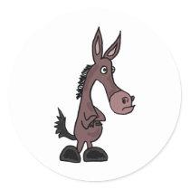Stubborn Mule or Donkey Stickers