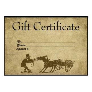 Stubborn Ol' Donkey- Prim Gift Certificate Cards