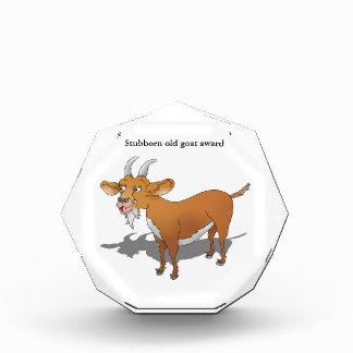 Stubborn old goat Award