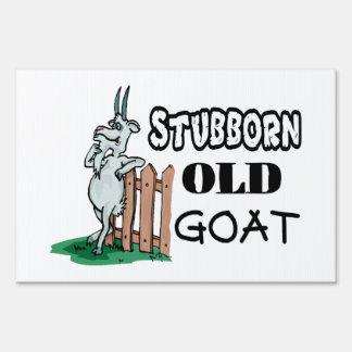 Stubborn Old Goat Sign