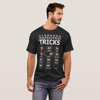 Stubborn Samoyed Dog Tricks Funny Tshirt