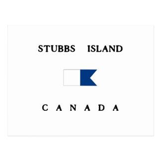 Stubbs Island Canada Alpha Dive Flag Postcard