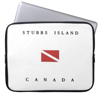 Stubbs Island Canada Scuba Dive Flag Computer Sleeve