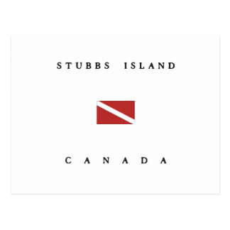 Stubbs Island Canada Scuba Dive Flag Postcard