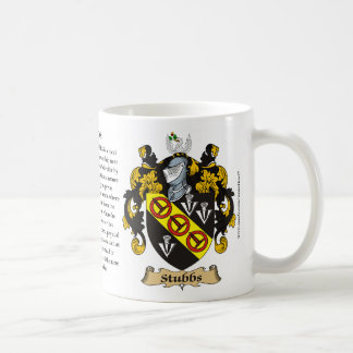 Stubbs, the Origin, the Meaning and the Crest Coffee Mug