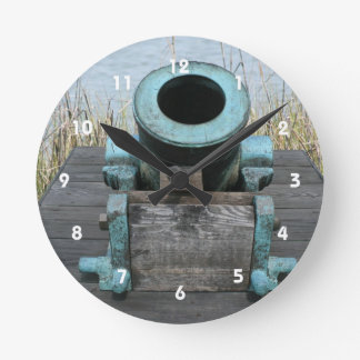 Stubby Canon Round Clock