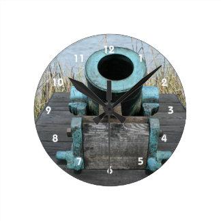 Stubby Canon Round Wall Clock