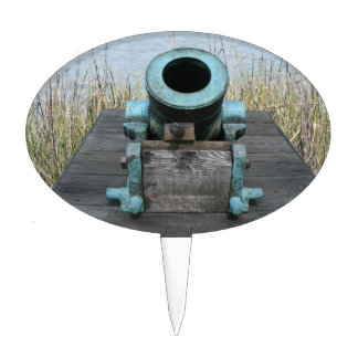 stubby canon water grass background cake topper