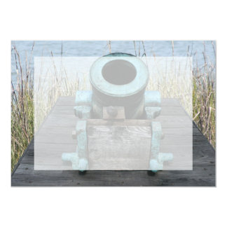 "stubby canon water grass background 5"" x 7"" invitation card"