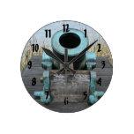 stubby canon water grass background round clocks