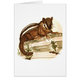 Stubby the Chipmunk Blank Card