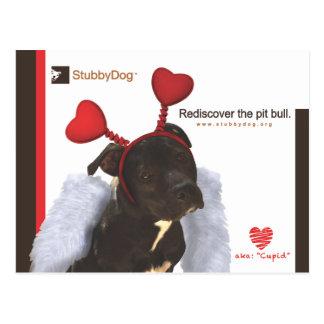 StubbyDog Valentine #2 Postcard