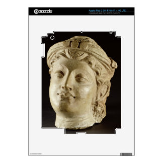 Stucco head, Gandhara, 4th century AD Decal For iPad 3